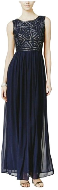 Item - Blue Empire Waist Embellished Long Casual Maxi Dress Size 6 (S)