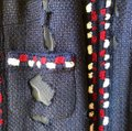 Chanel Blue White Red Dark and Striped Mesh Cutout Coat / Cardigan Jacket Size 6 (S) Chanel Blue White Red Dark and Striped Mesh Cutout Coat / Cardigan Jacket Size 6 (S) Image 5