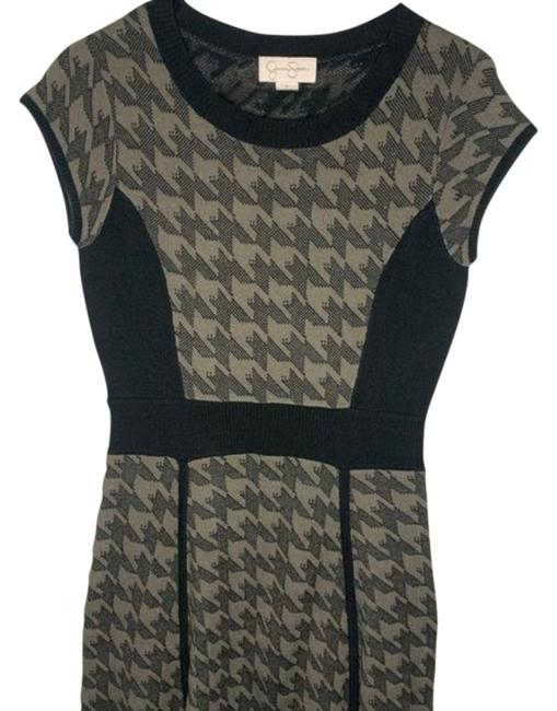Item - Grey Sweater Mid-length Short Casual Dress Size 6 (S)
