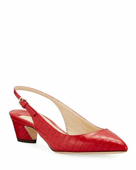 Jimmy Choo Red Gemma Mock-croc Leather Slingback (Store Try On Pumps Size US 9 Regular (M, B) Jimmy Choo Red Gemma Mock-croc Leather Slingback (Store Try On Pumps Size US 9 Regular (M, B) Image 1