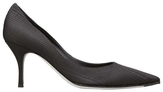 Rene Caovilla Black Moire with Crystal Detail Pumps Size US 8 Regular (M, B) Rene Caovilla Black Moire with Crystal Detail Pumps Size US 8 Regular (M, B) Image 1
