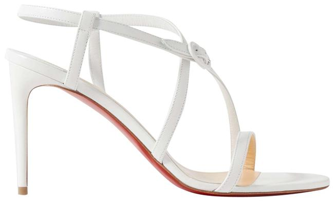 Item - White Selima 85 Leather Sandals Size EU 40.5 (Approx. US 10.5) Regular (M, B)