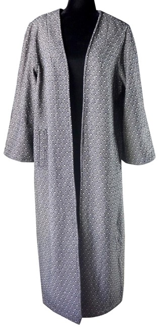Item - Black & White L The Odells Alistair Embroidered Maxi Coat Size 14 (L)