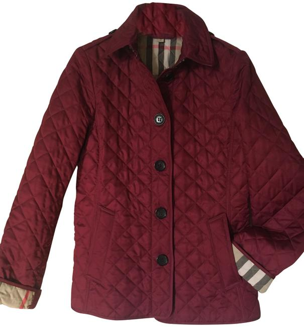 Item - Cadet Red Brit Ashurst Quilted Coat Jacket Size 2 (XS)