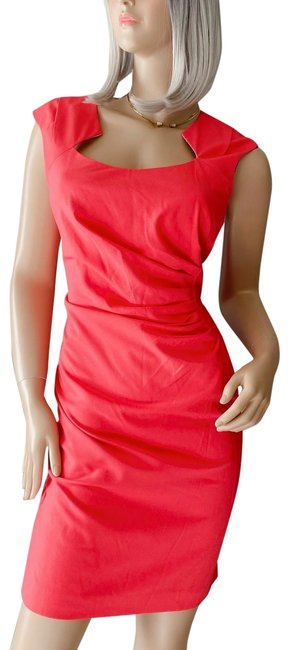 Item - Pink/Coral Career Sheath Mid-length Work/Office Dress Size 12 (L)