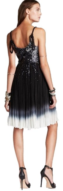 Free People Supernova Sz 10 Stunning Braided Straps Pleated Linved Sequins Pullover Style Dress