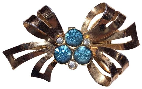 CORO golden color large rhinestone brooch in great low price