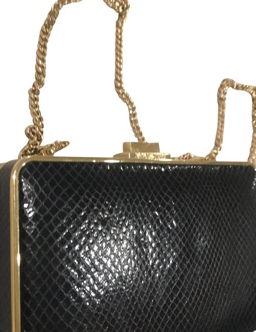 Item - With Detachable Chain Black Leather Clutch