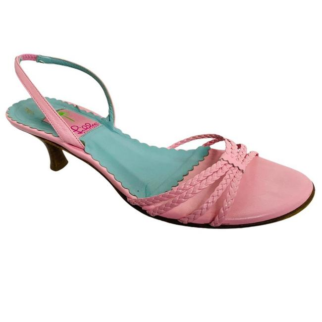 Item - Pink Strappy Leather Sandals Size US 9.5 Regular (M, B)