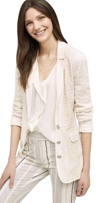 Item - Cream Anthro Cartonnier Lupe Lace Ivory Blazer Size 4 (S)