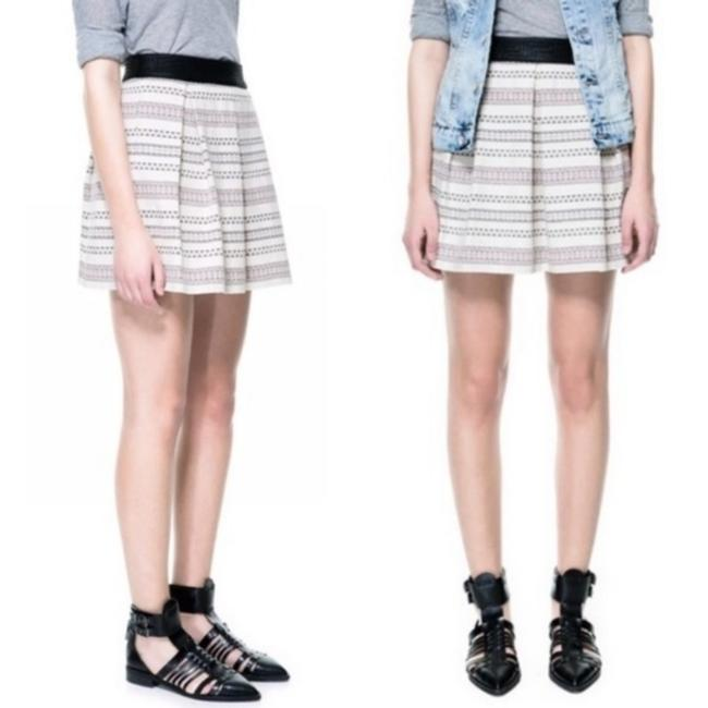 Item - Cream Black Tapestry with Jacquard Waistband Skirt Size 2 (XS, 26)
