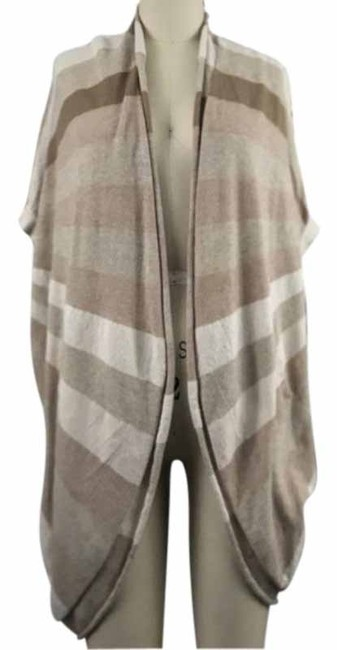Item - Tan Cream Cocoon Anthro Sparrow Striped Sweater Poncho/Cape Size 8 (M)