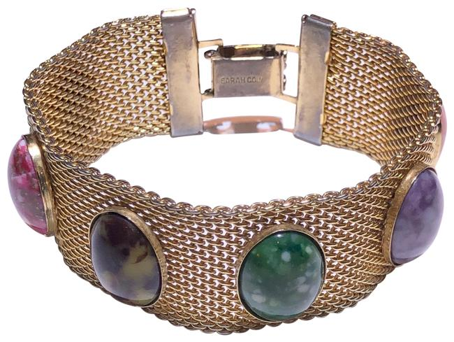 Item - Gold Colored Stone Vintage Bracelet