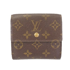 Louis Vuitton Auth Louis Vuitton Monogram Portefeuille Elise M61654 Women's Monogram Wallet (tri-fold)