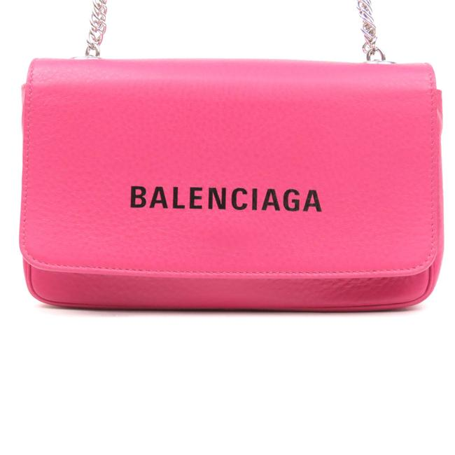 Balenciaga Pink Chain Everyday Leather Wallet Balenciaga Pink Chain Everyday Leather Wallet Image 1