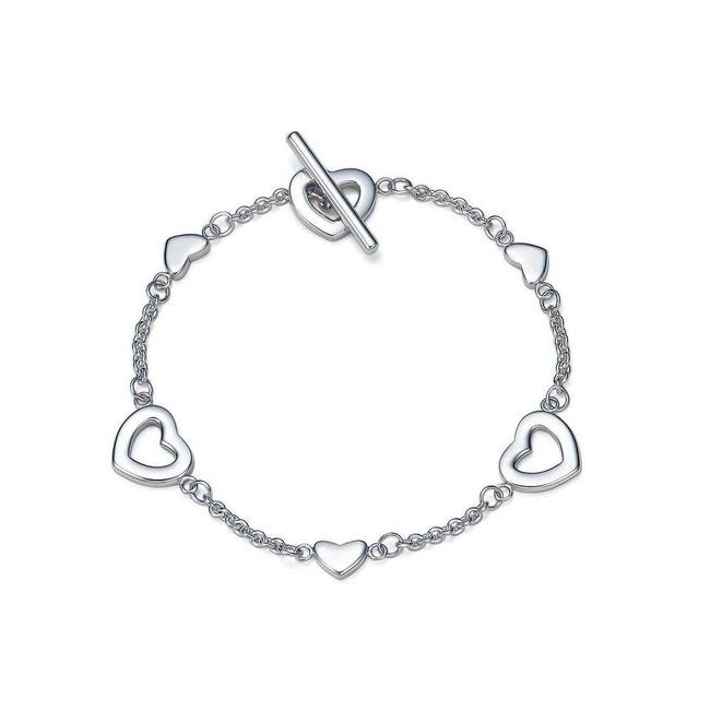 Tiffany & Co. Silver Heart Links Lariat Toggle Bracelet Tiffany & Co. Silver Heart Links Lariat Toggle Bracelet Image 1