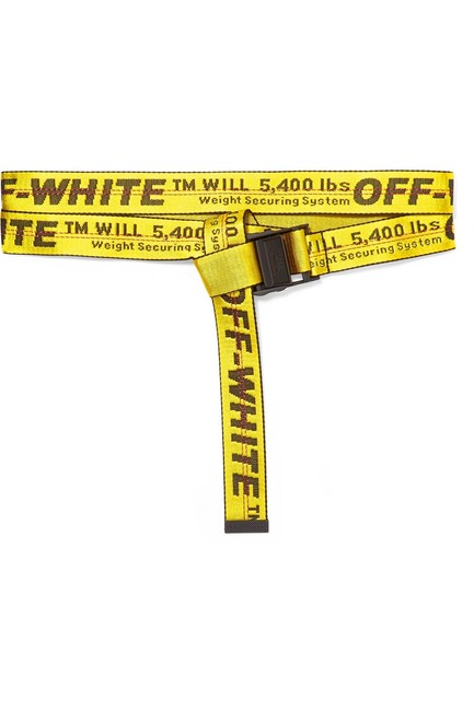 Off-White™ Yellow Industrial Logo Jacquard Canvas Belt Off-White™ Yellow Industrial Logo Jacquard Canvas Belt Image 1