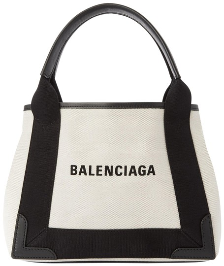 Preload https://img-static.tradesy.com/item/28083469/balenciaga-cabas-xs-navy-leather-trimmed-printed-tote-black-off-white-canvas-leather-satchel-0-1-540-540.jpg
