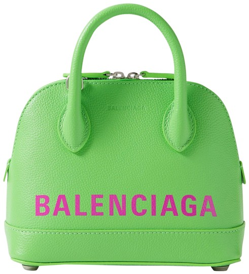 Preload https://img-static.tradesy.com/item/28083474/balenciaga-ville-xxs-printed-textured-leather-tote-green-leather-shoulder-bag-0-1-540-540.jpg