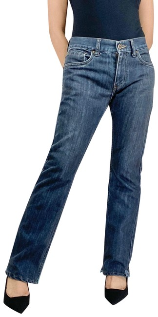 Item - Blue Dark Rinse 511 Skinny Mid-rise Straight Leg Jeans Size 6 (S, 28)
