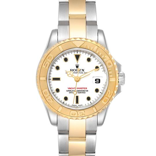 Preload https://img-static.tradesy.com/item/28083938/rolex-white-yachtmaster-29-steel-yellow-dial-ladies-169623-watch-0-0-540-540.jpg