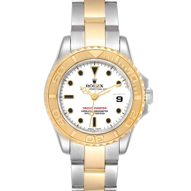 Rolex White Yachtmaster 29 Steel Yellow Dial Ladies 169623 Watch Rolex White Yachtmaster 29 Steel Yellow Dial Ladies 169623 Watch Image 1