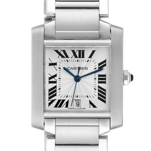 Cartier Cartier Tank Francaise Silver Dial Automatic Steel Mens Watch W51002Q3
