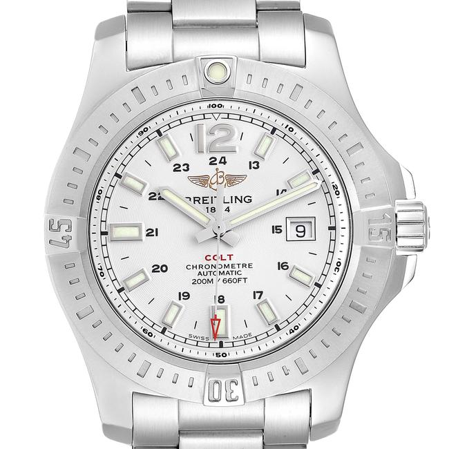 Breitling White Box Colt Dial Steel Mens A17388 Card Watch Breitling White Box Colt Dial Steel Mens A17388 Card Watch Image 1