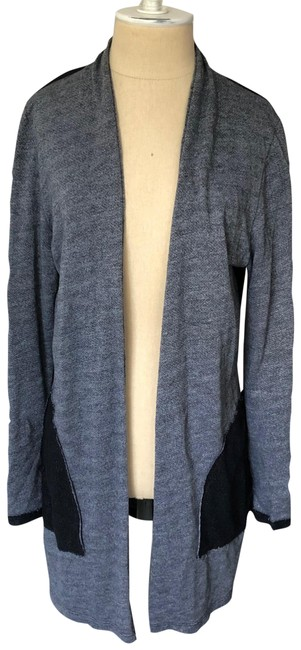 Item - Gray and Black Colorblock Owl Long Duster Cardigan Size 8 (M)