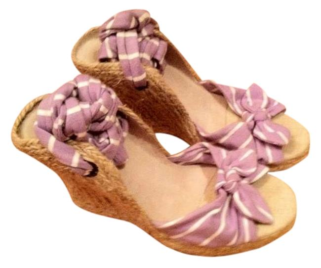 Item - Lavender and White Wedges Size US 7.5