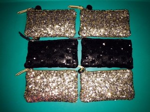 Ann Taylor LOFT Lot Of 4 Bridesmaid Evening Clutch/ Purse / Makeup Bag
