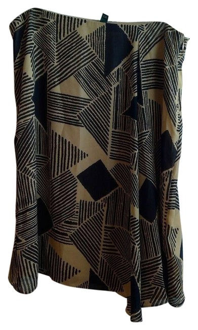 Item - Brown and Beige Flare Skirt Size 16 (XL, Plus 0x)