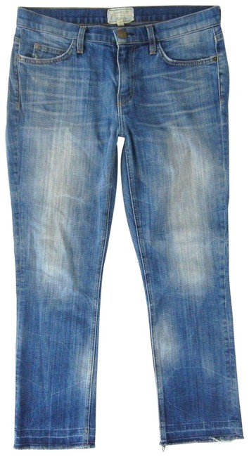Item - Blue Distressed Hartley Cropped Straight Leg Jeans Size 28 (4, S)
