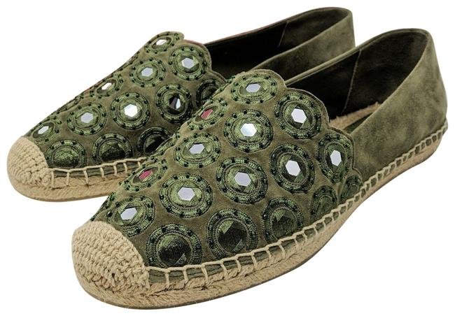 Item - Green Yasmin Flats Size US 10.5 Regular (M, B)