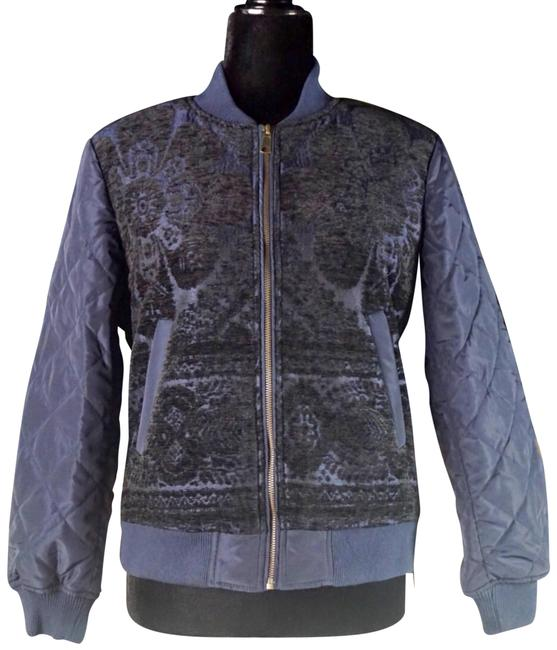 Item - Navy Blue Clemence Quilted Bomber New Sp Jacket Size Petite 6 (S)