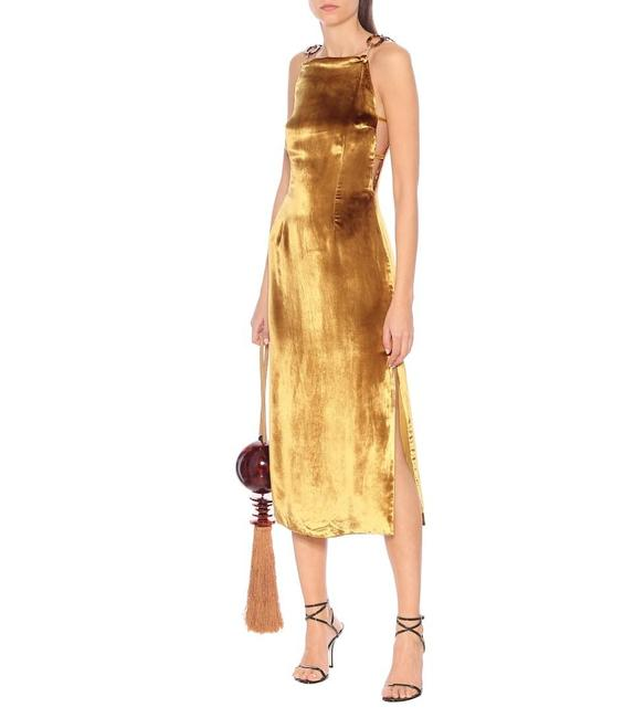 Preload https://img-static.tradesy.com/item/28085077/cult-gaia-gold-mina-velvet-midi-mid-length-cocktail-dress-size-12-l-0-0-650-650.jpg