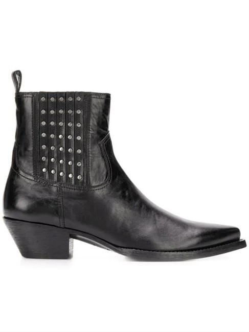 Saint Laurent Black Lukas Camperos Studded Leather Boots/Booties Size EU 39 (Approx. US 9) Regular (M, B) Saint Laurent Black Lukas Camperos Studded Leather Boots/Booties Size EU 39 (Approx. US 9) Regular (M, B) Image 1