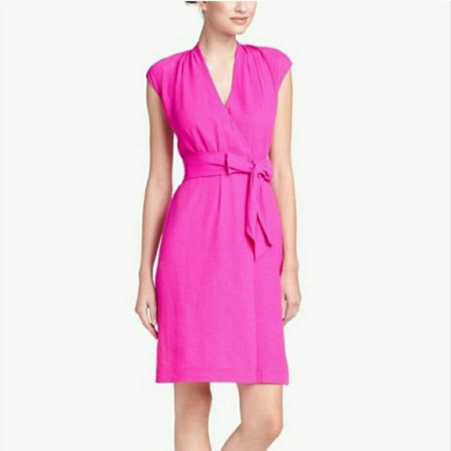 Item - Pink Hot Wrap Short Cocktail Dress Size 4 (S)