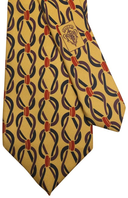 Item - Gold/ Red Free Tie with Purchase Scarf/Wrap