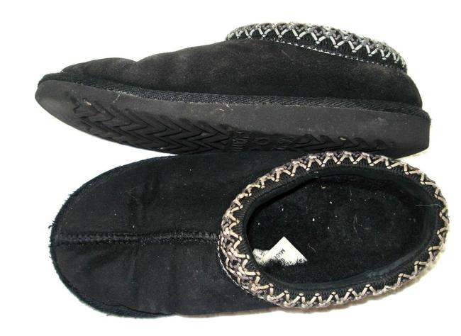 Item - Black Leather Genuine Sheepskin Slippers Slipon 5w Mules/Slides Size US 5 Regular (M, B)