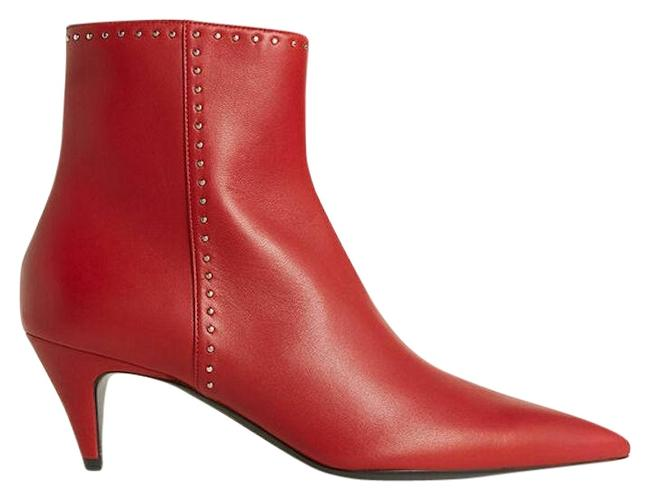 Item - Red Charlotte Studded Ankle Boots/Booties Size EU 35 (Approx. US 5) Wide (C, D)