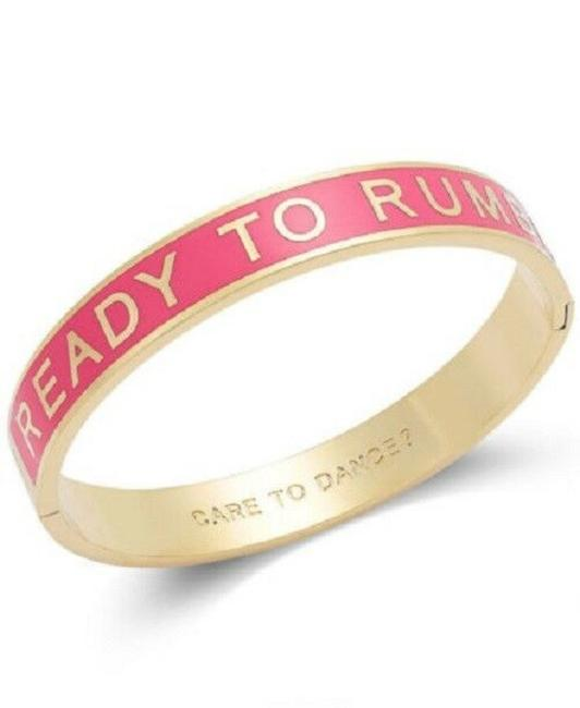 Kate Spade Coral & Gold Ready To Rumba Care To Dance Hinged Bracelet Kate Spade Coral & Gold Ready To Rumba Care To Dance Hinged Bracelet Image 1