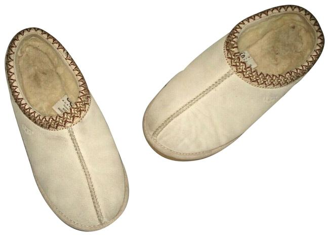 Item - Beige Leather Genuine Sheepskin Slippers Slipon 7w Mules/Slides Size US 7 Regular (M, B)