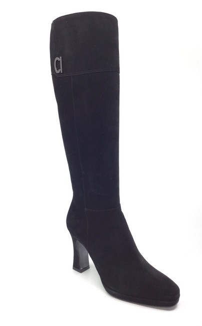Item - Black Forty Suede Calfskin Tall Boots/Booties Size US 7 Regular (M, B)