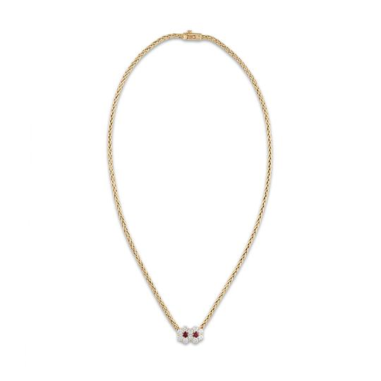 Preload https://img-static.tradesy.com/item/28085802/mauboussin-gold-18k-yellow-ruby-diamond-flower-necklace-0-0-540-540.jpg