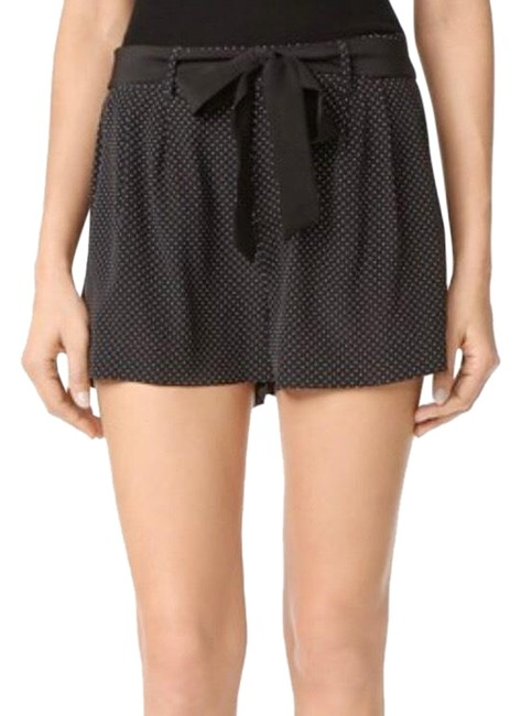 Item - Black & White Ezra Polka Dot Silk Shorts Size 2 (XS, 26)