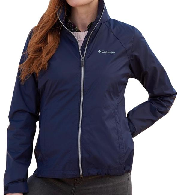 Item - Navy Blue Switchback Iii Hooded Packable Jacket Activewear Size 6 (S)