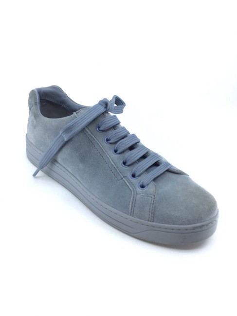 Item - Blue Suede Lace Up Sneakers Size US 6 Regular (M, B)