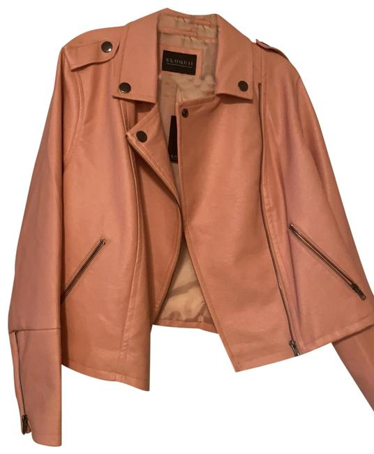 Item - Rose Tan Moto Jacket Size 18 (XL, Plus 0x)
