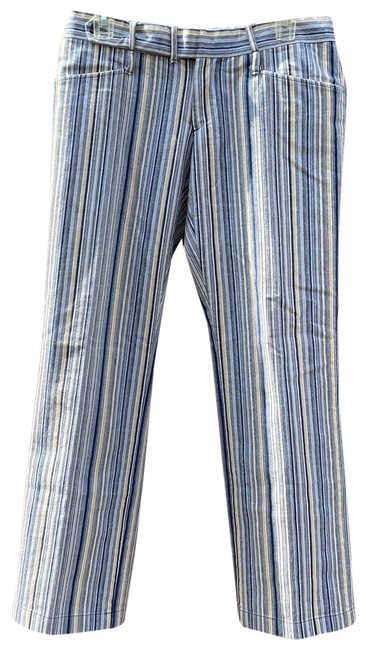 Item - Blue and Beige Striped Pants Size OS (one size)